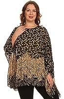 Womens Missy Fashion Shawl Tunic Poncho Abstract FloralScarf Top