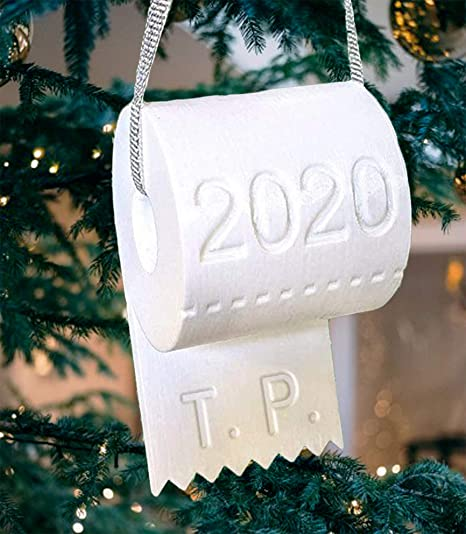 2020 Christmas Ornament Toilet Paper Crisis Xmas Tree Hanging Decoration Funny and Humor DIY Hallmark Gift for Holiday Festival Party Decor Pendants