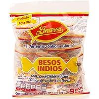 Besos Indios Linares, Dulces de Leche de Cabra con Nuez - Multipack de 4 Bolsas (9 piezas de 20 g por bolsa)