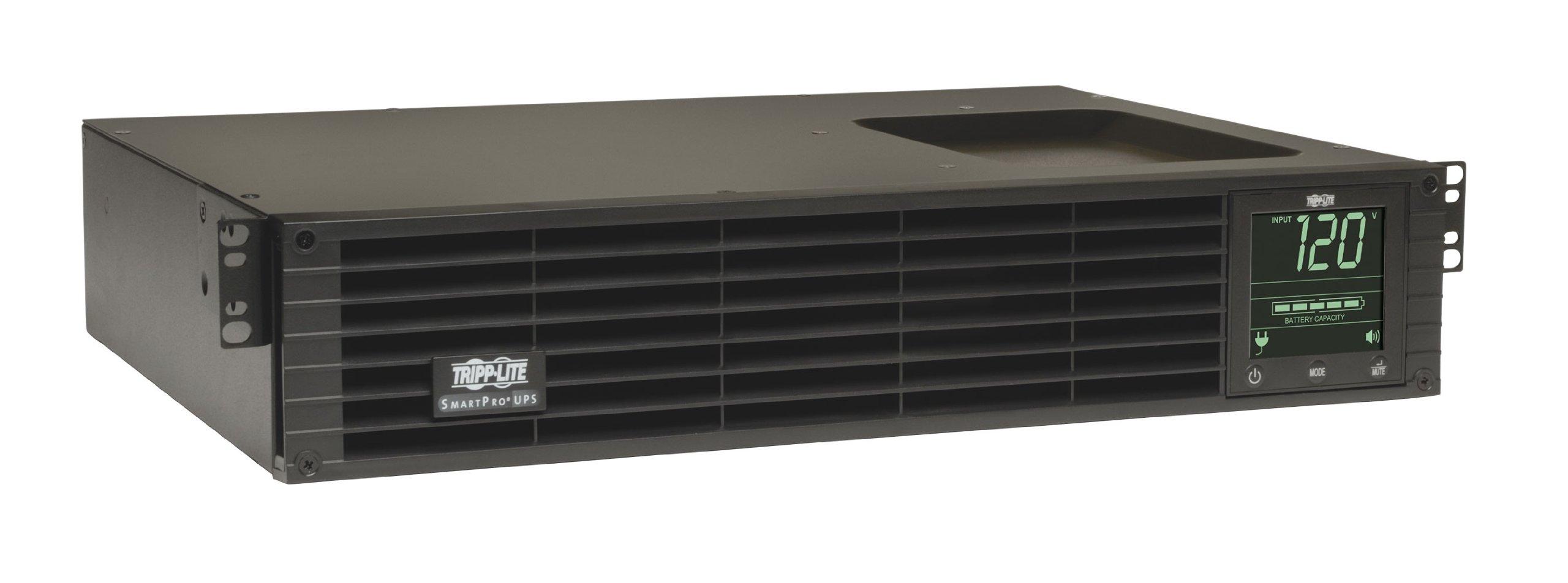 Tripp Lite 1500VA Smart UPS Back Up, Sine Wave, 1350W Line-Interactive, 2U Rackmount, Extended Run Option, LCD, USB, DB9 (SMART1500RMXL2UA)
