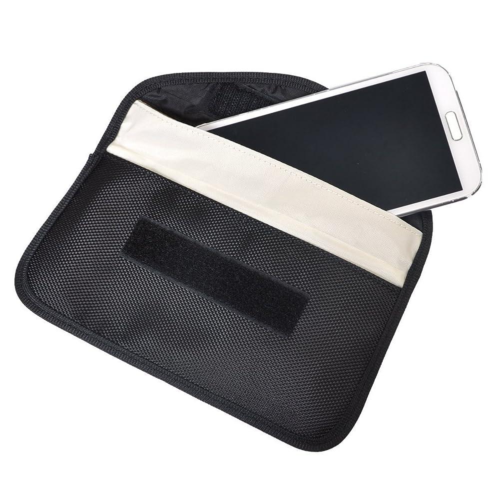 交通フォージそれにもかかわらずOneTigris スマホ用横型ポーチ シンプルケース ナイロン製 頑丈 iPhone 6S / 7/8/8 PLUS / Xなど5.5インチまで収納 (ブラックー後ろポケットあり)