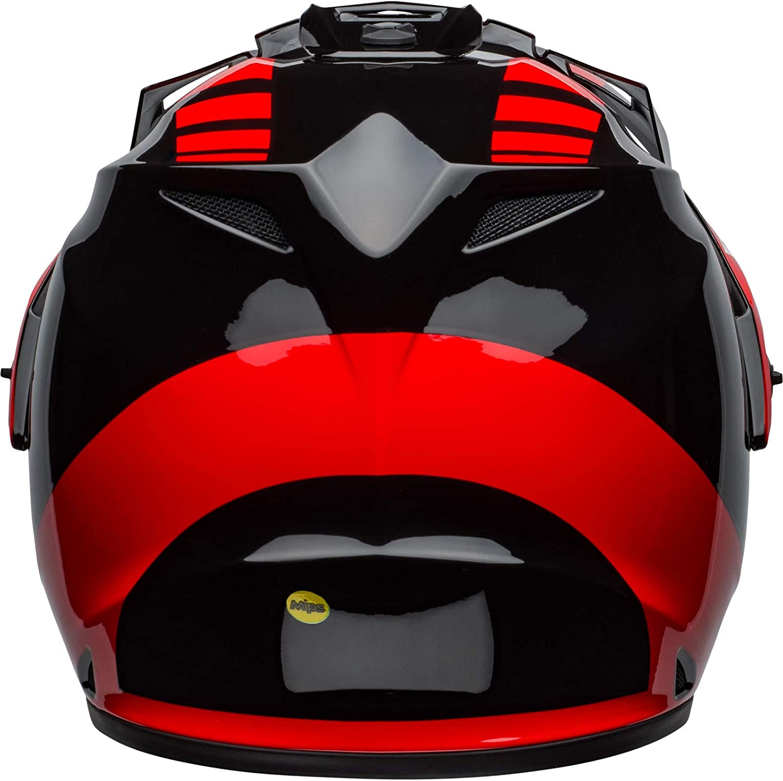 BELL HELMET MX-9 ADVENTURE MIPS DASH BLACK//RED//WHITE M