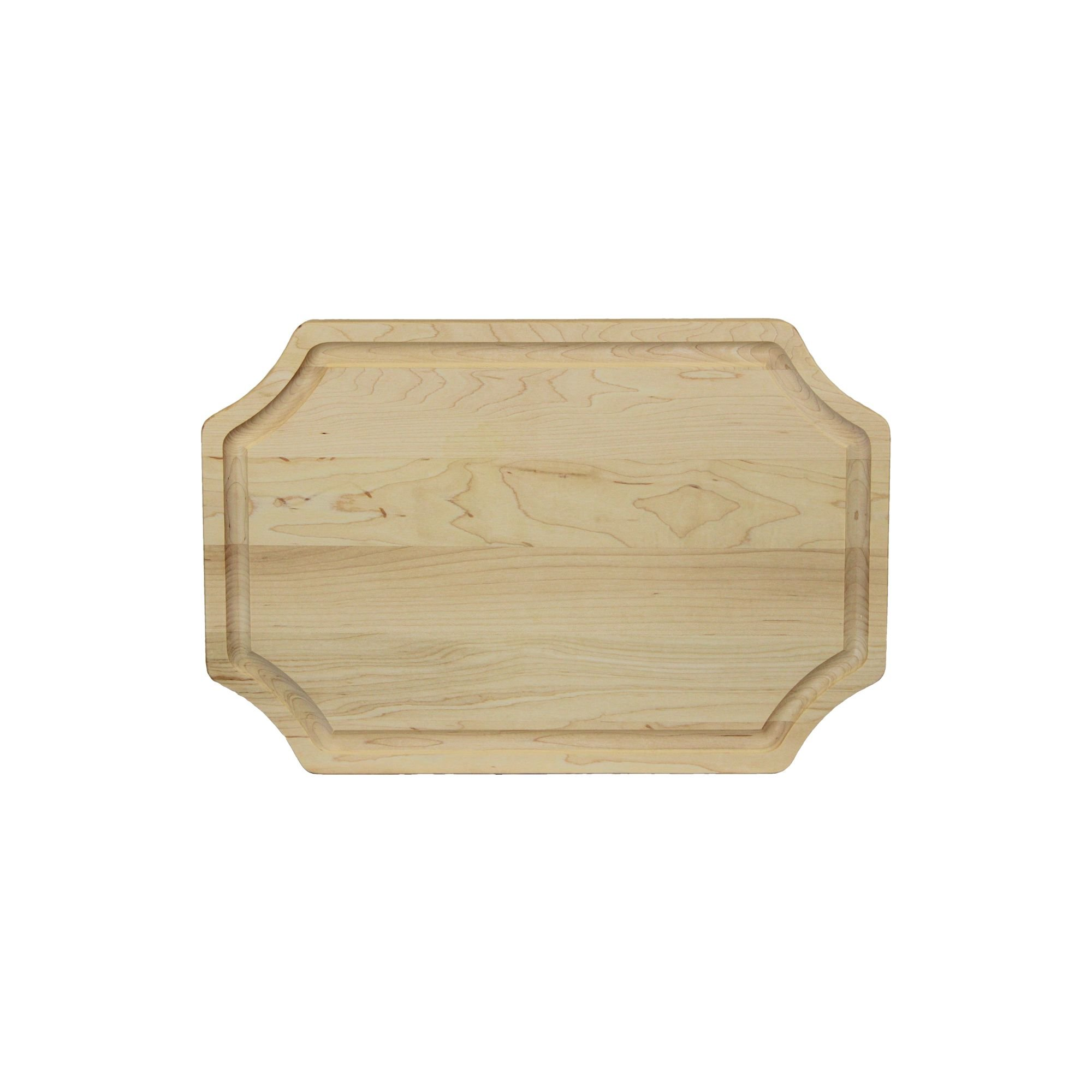 BigWood Boards 320-NI Carving Board, Carving Board with Juice Well, Large Wood Cutting Board with Juice Groove, Maple Serving Platter by BigWood Boards
