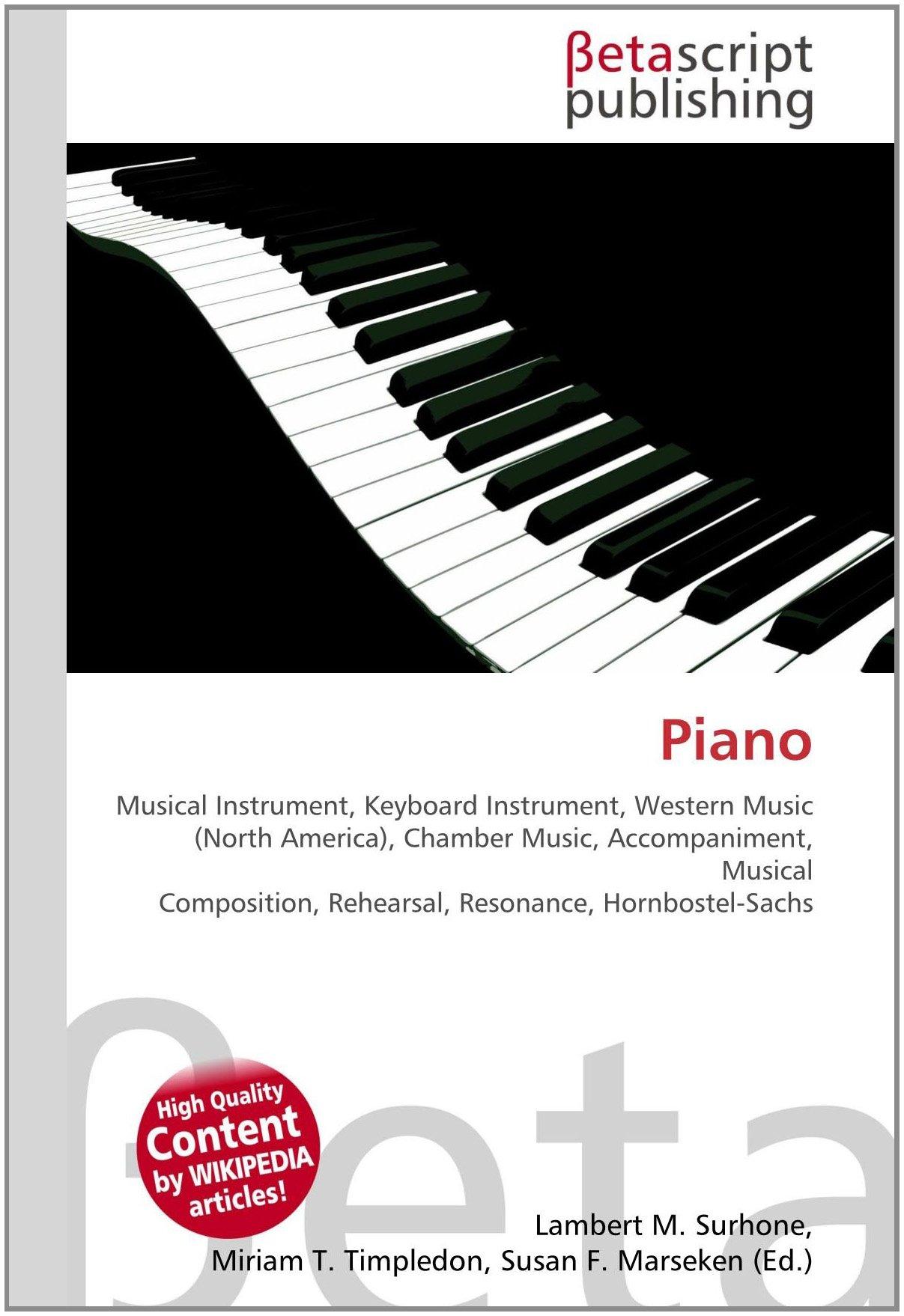 Piano: Amazon.es: Surhone, Lambert M., Timpledon, Miriam T ...