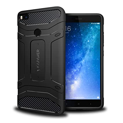 new arrivals 0f1d2 f887a Kapaver Xiaomi Mi Max 2 Back Cover Case Tough Rugged Solid Black Shock  Proof Slim Armor Back Cover Case for Xiaomi Mi Max 2