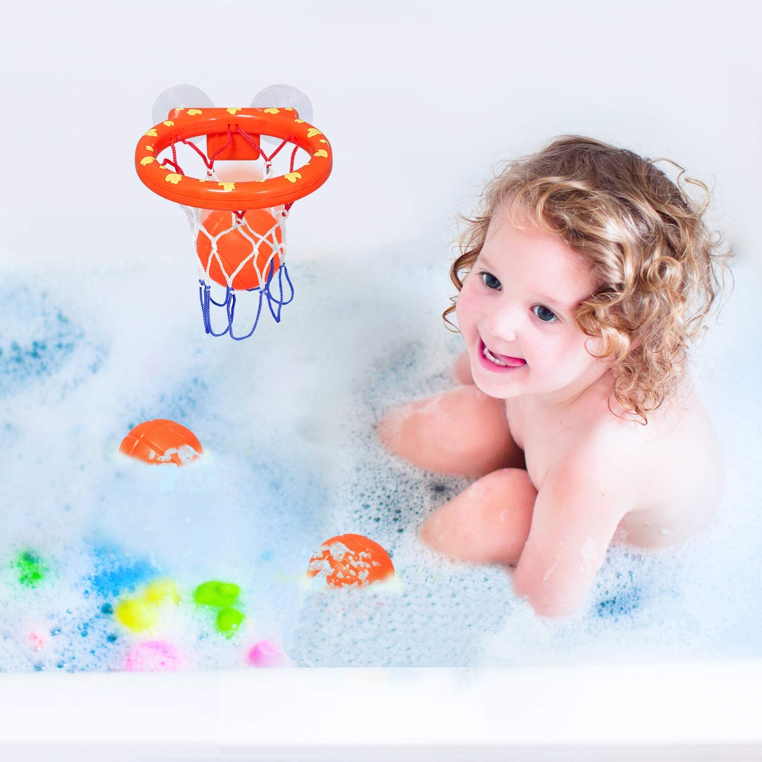 Soccer Water Spray Toys Including ToysFootball Brave Hours 4 Pack Childrens Bath Toys Basketball and Baseball.Gifts for Boys and Girls.