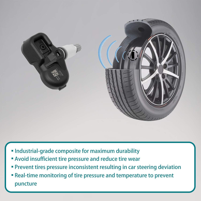 42607-33011 HQPASFY Tire Pressure Sensor 315MHz TPMS 4PCS Replacement for| Lexus ES350 GS350 GS460| Toyota Camry Corolla Prius| Scion iQ /& More Replaces# PMV-107J 42607-33021 42607-06011