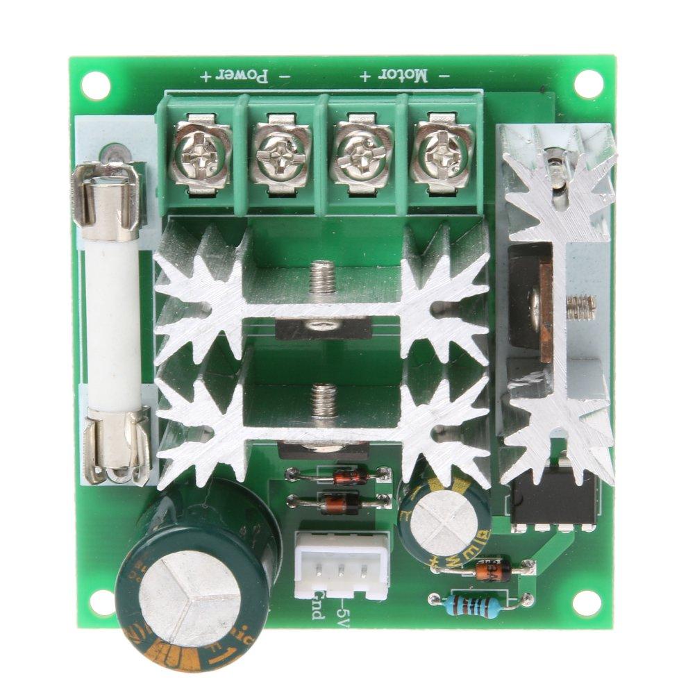 amazingdeal365 15 A DC 6 V-90 V Interruptor de control de velocidad del motor Regulador Controlador PWM: Amazon.es: Iluminación