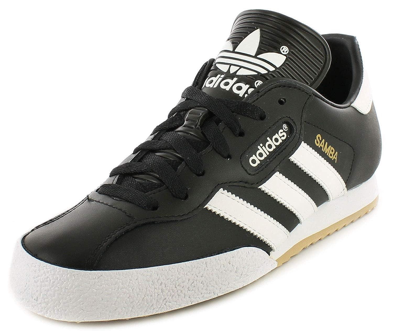 Adidas Samba Super Schwarz Textil Leder Hallenfußball Turnschuhe - Schwarz weiß - UK GRÖßEN 6-12  | Angenehmes Gefühl