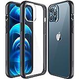 Capa Mkeke compatível com iPhone 12 Pro Max, compatível com iPhone Pro Max capa transparente para 6,5 polegadas 2020 - preta
