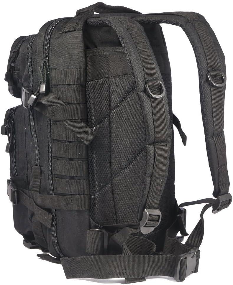 Mil-Tec Mochila tipo militar color negro 20 L