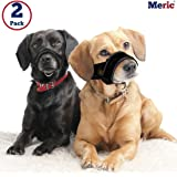 Nylon Dog Muzzle Set - Prevents Barking, Chewing & Biting - Durable & Flexible with Fully Adjustable Neck Strap & Snout Circumference - Includes Sizes L and XL for Doberman, Labrador and Rottweiler