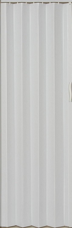 Faltt/ür Schiebet/ür T/ür Kunststofft/ür weiss farben H/öhe 203 cm Einbaubreite bis 82 cm Neu
