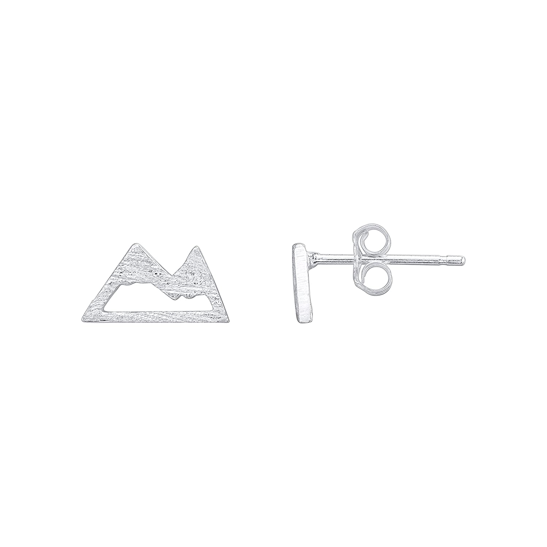Mountain Stud Earrings - 925 Sterling Silver CY Supplies US_B07DTZKNC1