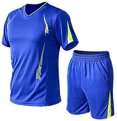 Herren Sommer Trainingsanzug Fitness Dünn Atmungsaktiv