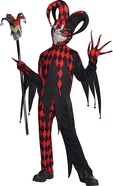 Corrupted Jesters Boys Fancy Dress Halloween Medieval Joker Childrens Costumes