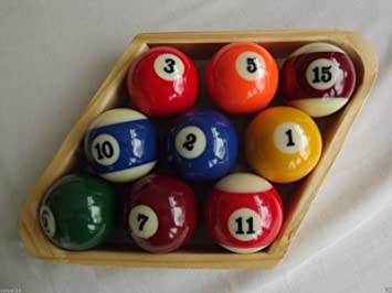 Homegames Pool Table Ball Wooden Diamond 2 1/4 American 9 ball by ...