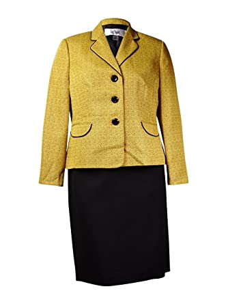 b309811f7 Image Unavailable. Image not available for. Color  Le Suit Women s Monte  Carlo Contrast Trim Skirt ...