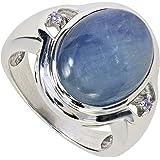 LaLuna Design Damen-Ring Sterling-Silber 925 rhodiniert Kyanit Tansanit