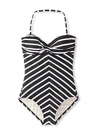 4647f83f59 Beach Scene Women's Twist Maillot One-Piece Swimsuit (10 Black/White) at Amazon  Women's Clothing store: