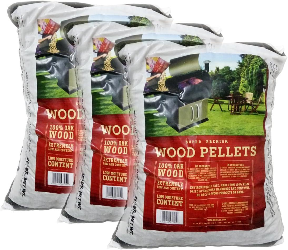 Z GRILLS Premium BBQ Wood Pellets for Grilling Smoking Cooking Oak Hardwood Pellets,20LB Per Bag Made in USA (3)