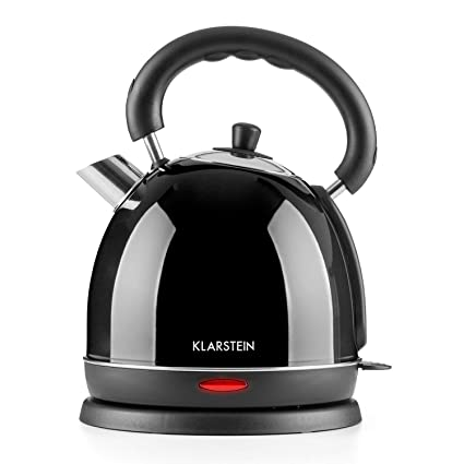 Klarstein Teatime • Hervidor de agua • Inalámbrico • Tetera eléctrica • Diseño retro • Acero