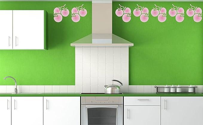 /11.5/x 12.5/cm/ /riutilizzabile di frutta verdura cucina stencil da/ /da usare su carta progetti scrapbook Journal muri pavimenti tessuto mobili in vetro legno etc. pomodoro stencil/