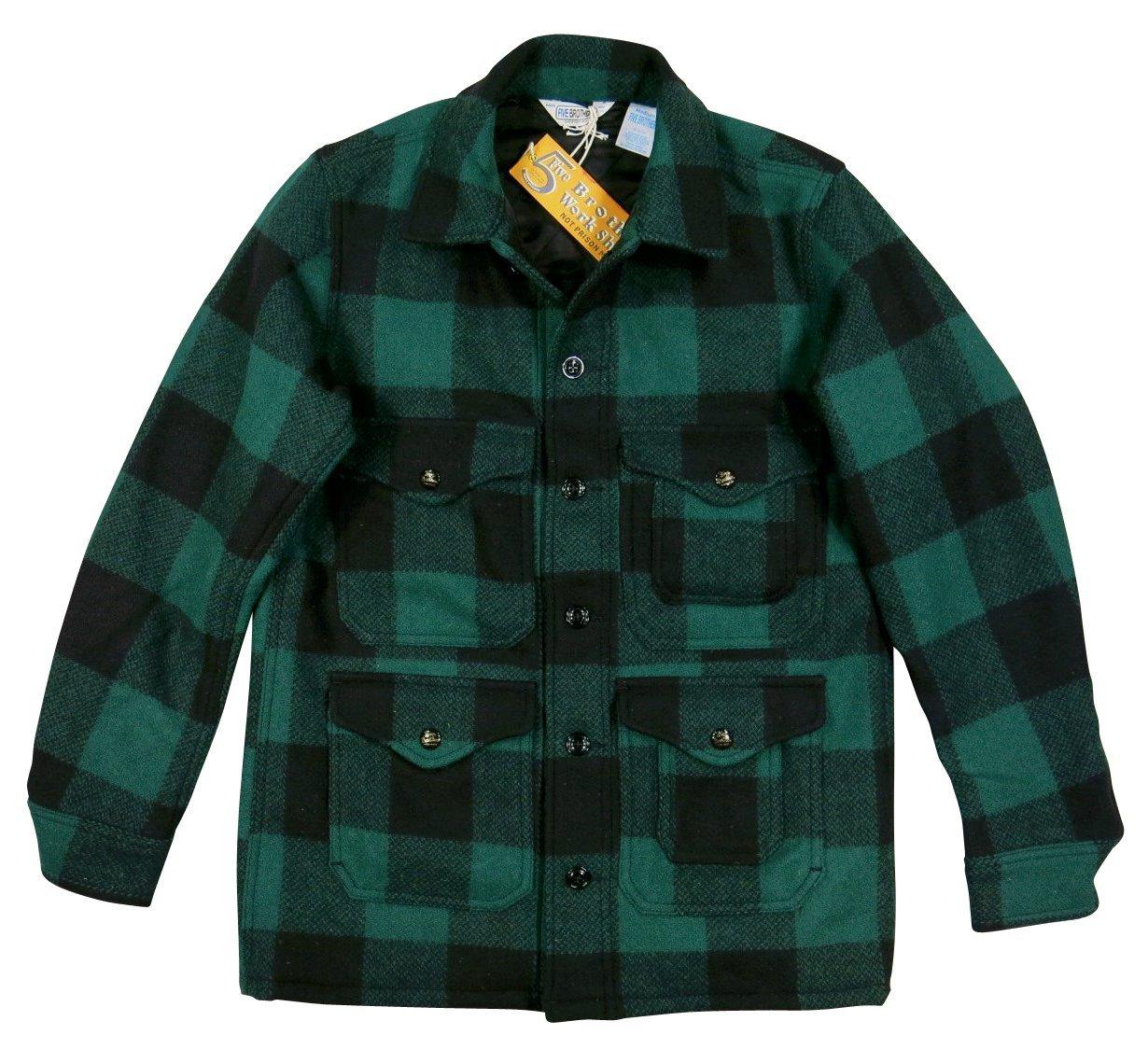(ファイブブラザー)FIVE BROTHER バッファローチェック マッキーノジャケット B01N3L5N6Z S|GREEN/BLACK(グリーン×ブラック) GREEN/BLACK(グリーン×ブラック) S