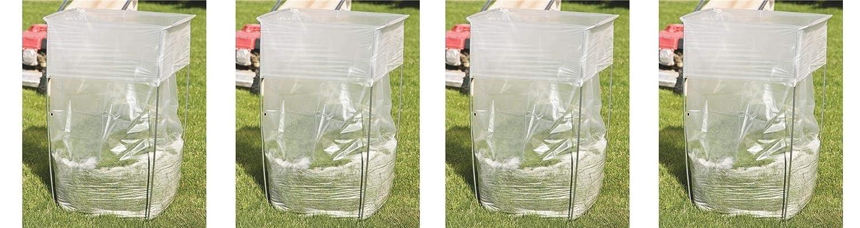 バッグバディバッグホルダー – 多目的メタルサポートスタンド 39–45ガロンプラスチックとペーパーバッグ用 – 葉、庭仕事、ランドリー、ゴミなどに – 高さ30インチ Pack of 4 Pack of 4  B07HFF1GL6