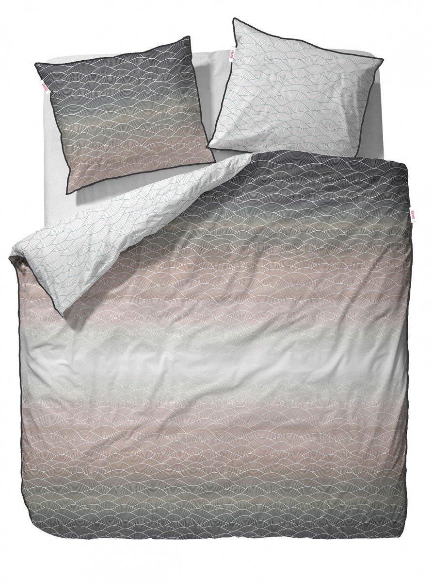 Esprit Mako-Satin Bettwäsche Evan Beige 155x220 + 80x80