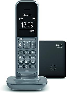 Gigaset CL390 - Teléfono fijo inalámbrico para casa, pantalla iluminada, agenda 150 contactos, gris: Amazon.es: Electrónica