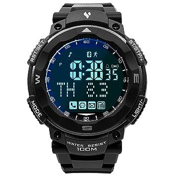Baoblaze Reloj Digital Fitness Tracker Rastreador de Deporte Impermeable Durable - Gris negro