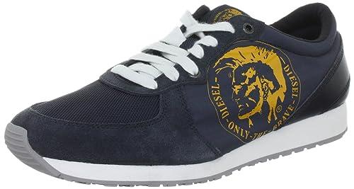 Diesel A-Head - Zapatillas deportivas de material sintético hombre, color azul, talla 42: Amazon.es: Zapatos y complementos