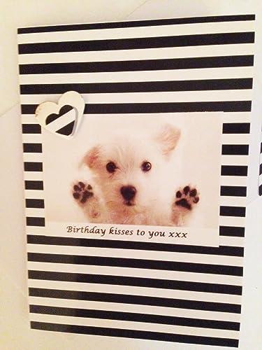 Handmade West Highland Terrier Westie Dog Birthday Greetings Card