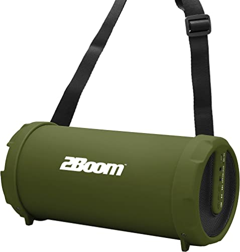 2BOOM BX320 Rechargeable Wireless Bluetooth Portable Outdoor Speaker Green