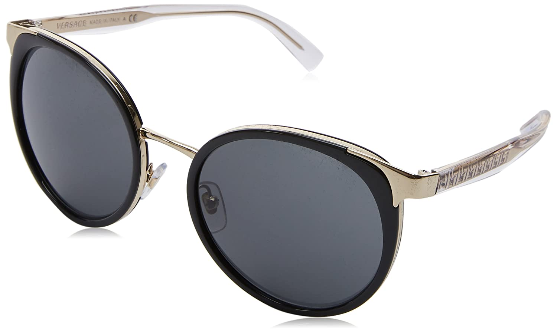 13162bc67cc17b Versace 0VE2185 125287 54, Montures de Lunettes Femme, Noir (Black Grey)   Amazon.fr  Vêtements et accessoires