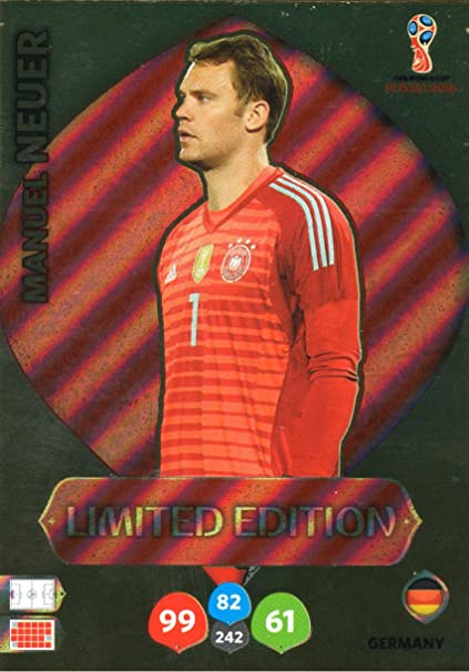 a2f0fa7b583 2018 Panini World Cup MANUEL NEUER LIMITED EDITION Soccer Card. Not Found  in Packs!