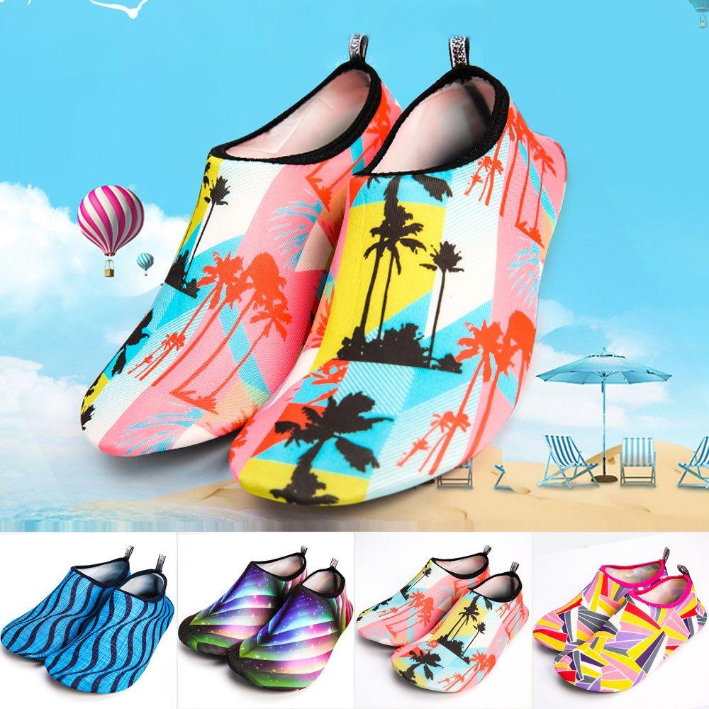 Zapato De Agua ZARLLE Zapatos De Playa Escarpines Estampado Floral Calzado De Playa Surf para Hombre Mujer Aqua Calcetines Yoga Surf Buceo Playa Bailar ...