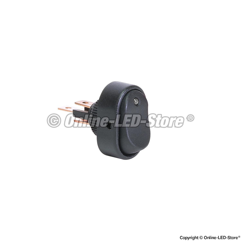 12v Dc 30a 3 Pin Spst Led On Off Rocker Switch Blue Round Switches Automotive