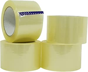 WOD CST16RA Clear Packing Tape - 3 inch x 110 Yards Per Roll (6-Rolls) - Your Thin Aggressive Adhesive Shipping Box Packaging Tape for Moving, Office, Carton Sealing & Storage
