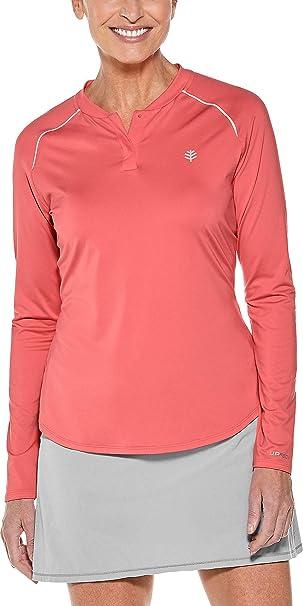 e9a0b9a1941 Coolibar UPF 50+ Women's Long Sleeve Match Point Henley - Sun Protective
