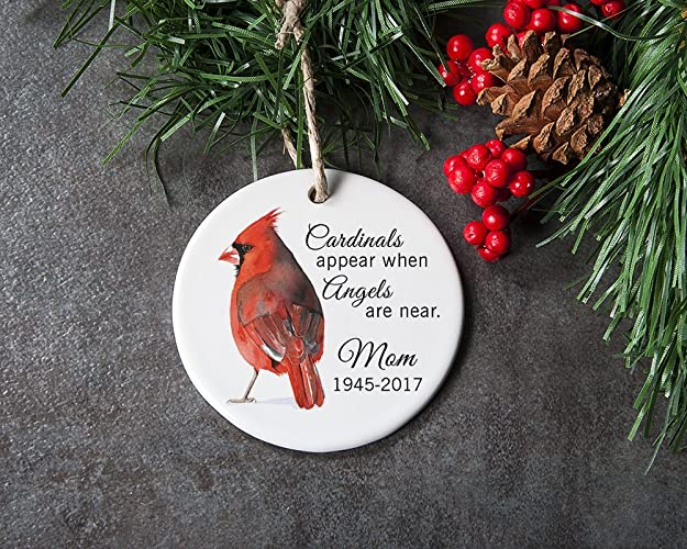 personalized in memory of christmas ornament loss of loved one sympathy gift for memorial