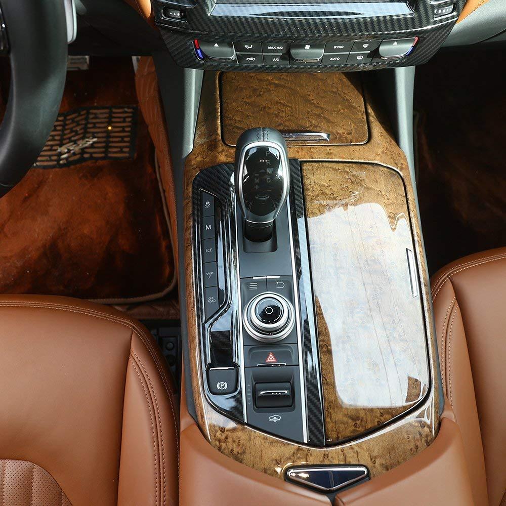 ABS Plastic Gear Shift Frame Cover Trim for Maserati Levante 2016 2017 2018 Left hand driver matte silver