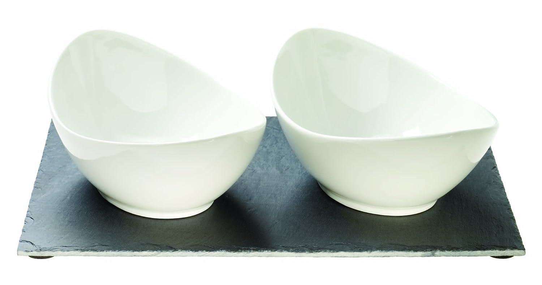 Luigi Bormioli Slate And Porcelain Bowl Set, 3-Piece