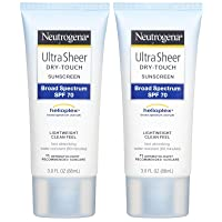 Neutrogena Ultra Sheer Broad Spectrum Sunscreen SPF 70-3 oz - 2 pk