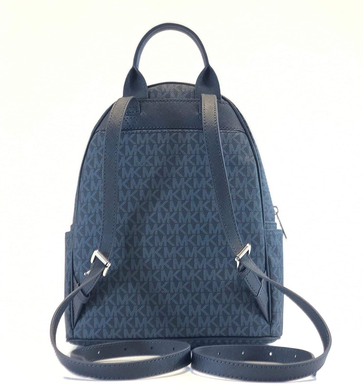 d249a6423e2e Amazon.com: Michael Kors Abbey Medium Signature Floral PVC Backpack Admiral:  Shoes