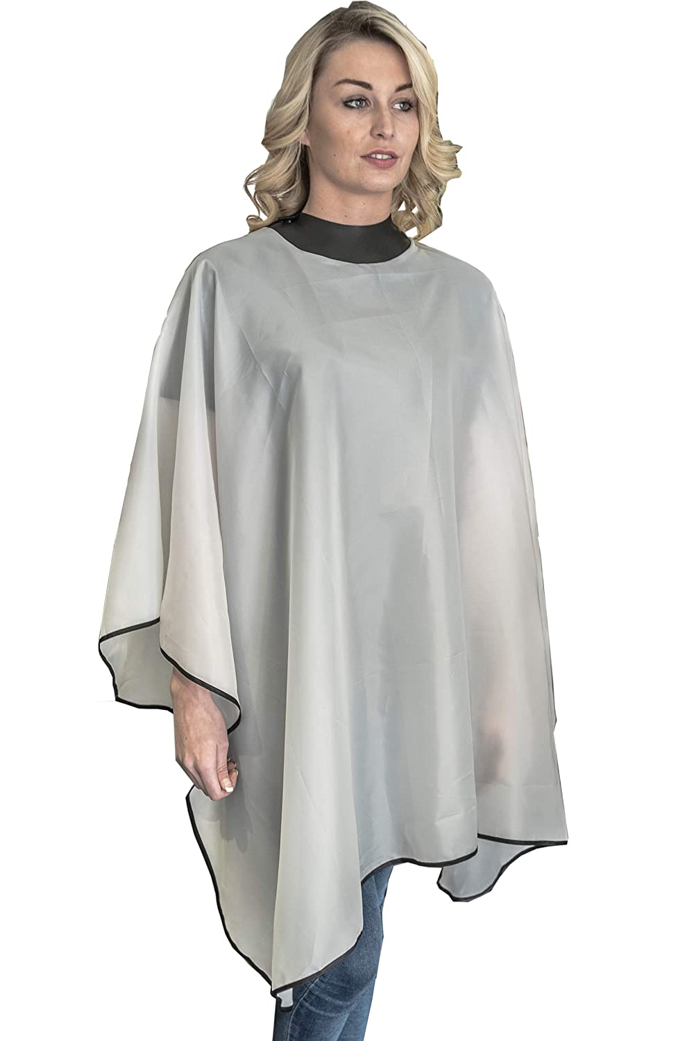 NeoCape Standard Hairdressing Gown White - barber cape with a built in neoprene collar