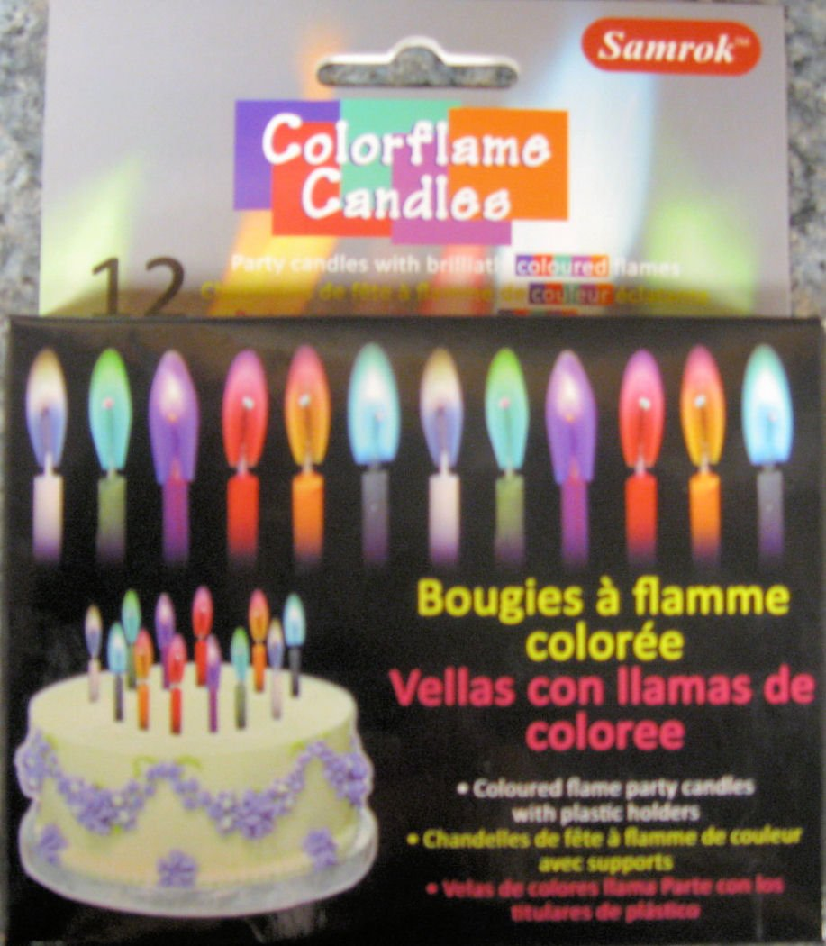 Amazon Colorflame Birthday Candles With Colored Flames