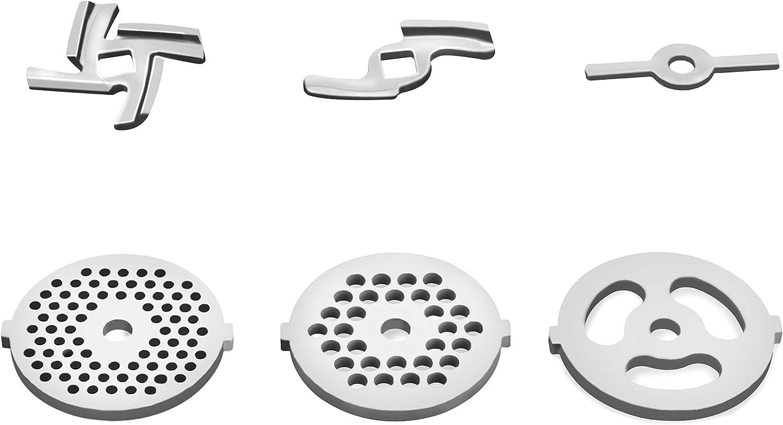 KENOME 6-pc Set Basics Meat grinder replacement for KitchenAid FGA Food Chopper