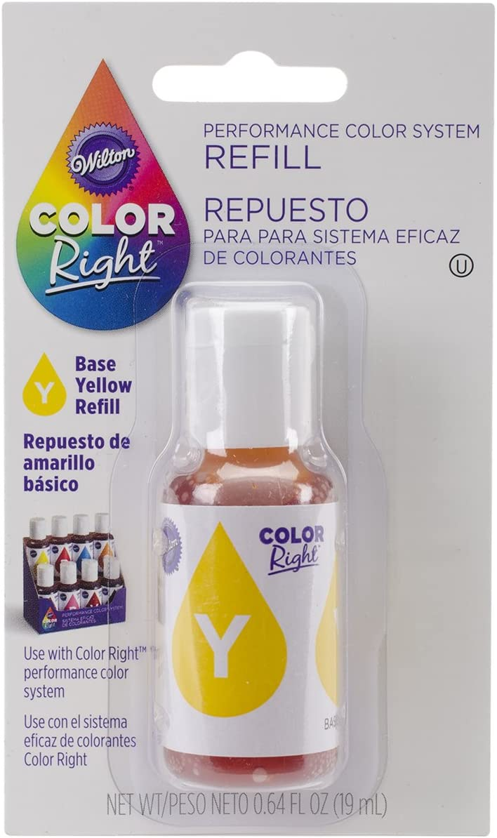 Wilton Color Right Food Color System Refill, .7oz, Yellow